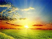 唯美草原日出自然风景高清壁纸