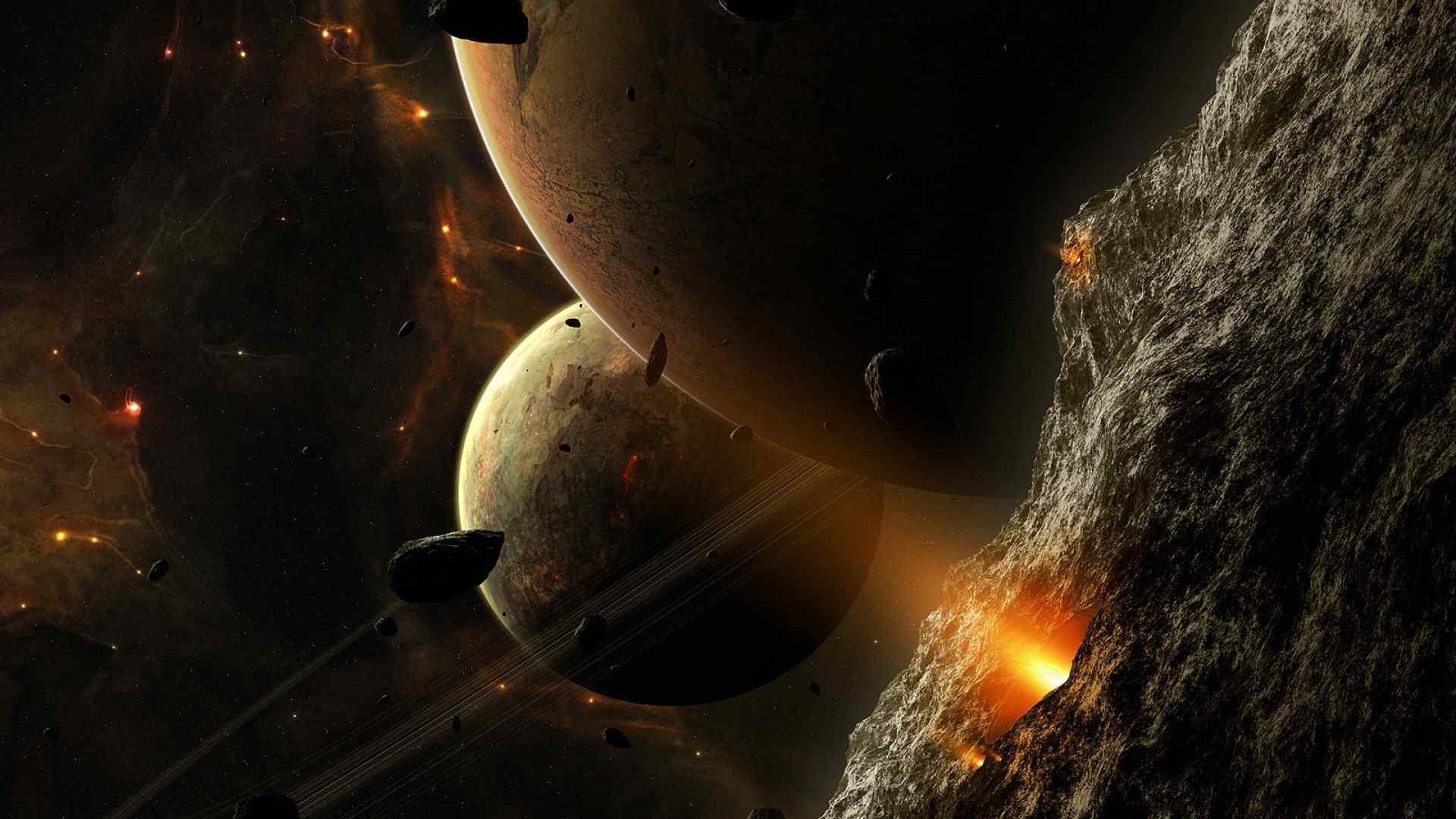 星空陨石坠落图片高清壁纸