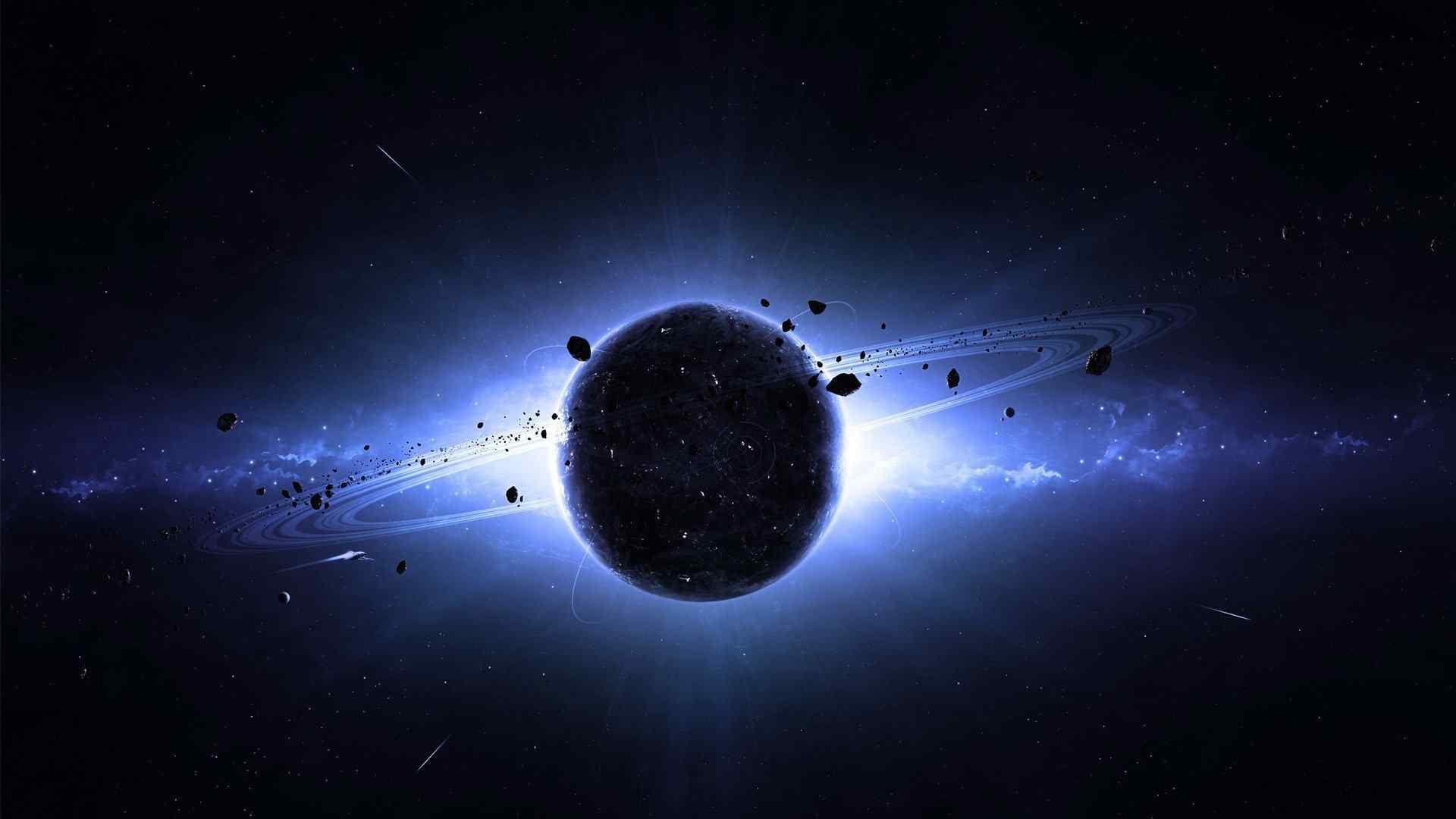 宇宙黑色星球唯美壁纸