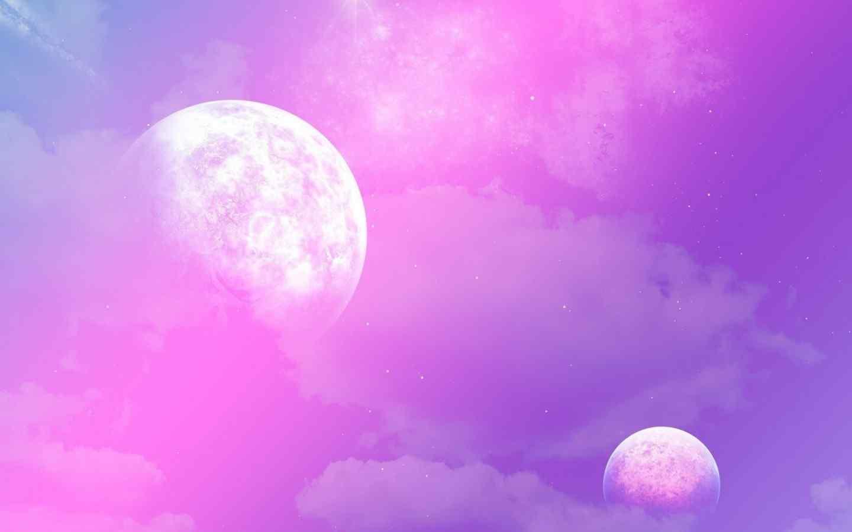 高清星空图片桌面壁纸下载大全之紫色星球