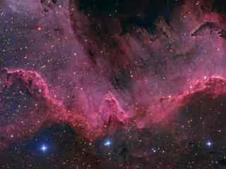 红色的星云图片壁