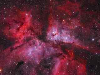 红色唯美的星云图