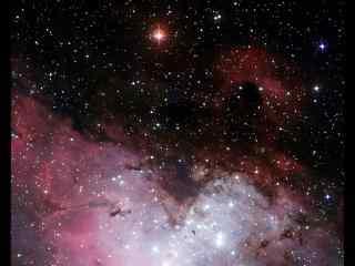 创意粉色云烟星空