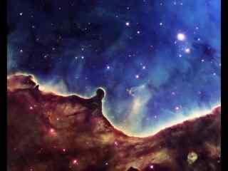 红色蓝色星空碰撞