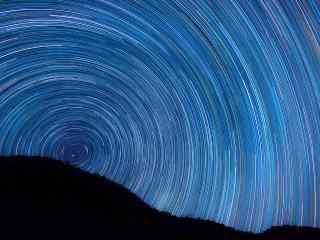漫天星空移动的轨