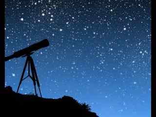 天文望远镜下的星