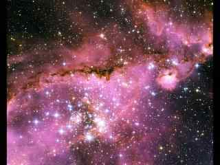 粉色的星空桌面壁