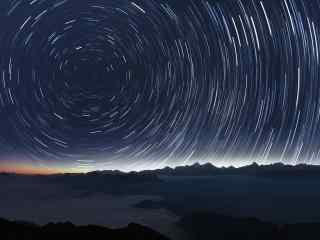 浩瀚宇宙星轨运动