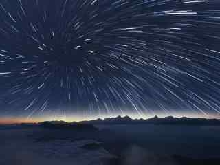 浩瀚宇宙星星向外