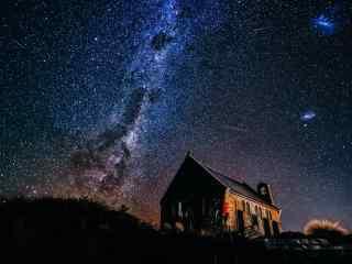 新西兰上方的星空