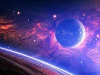 壮观的星空图片壁