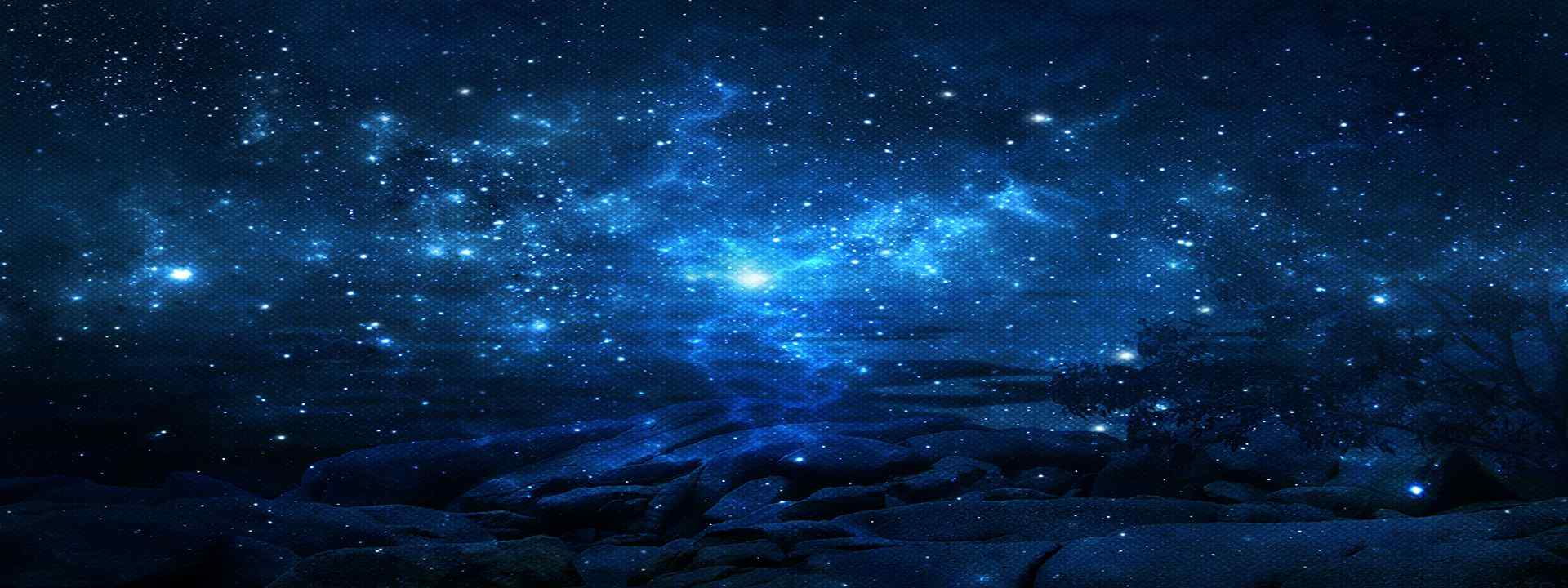 浩渺的蓝色星空高清壁纸