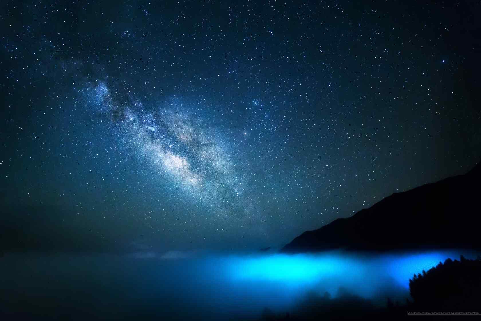 夜晚星空高清桌面壁纸