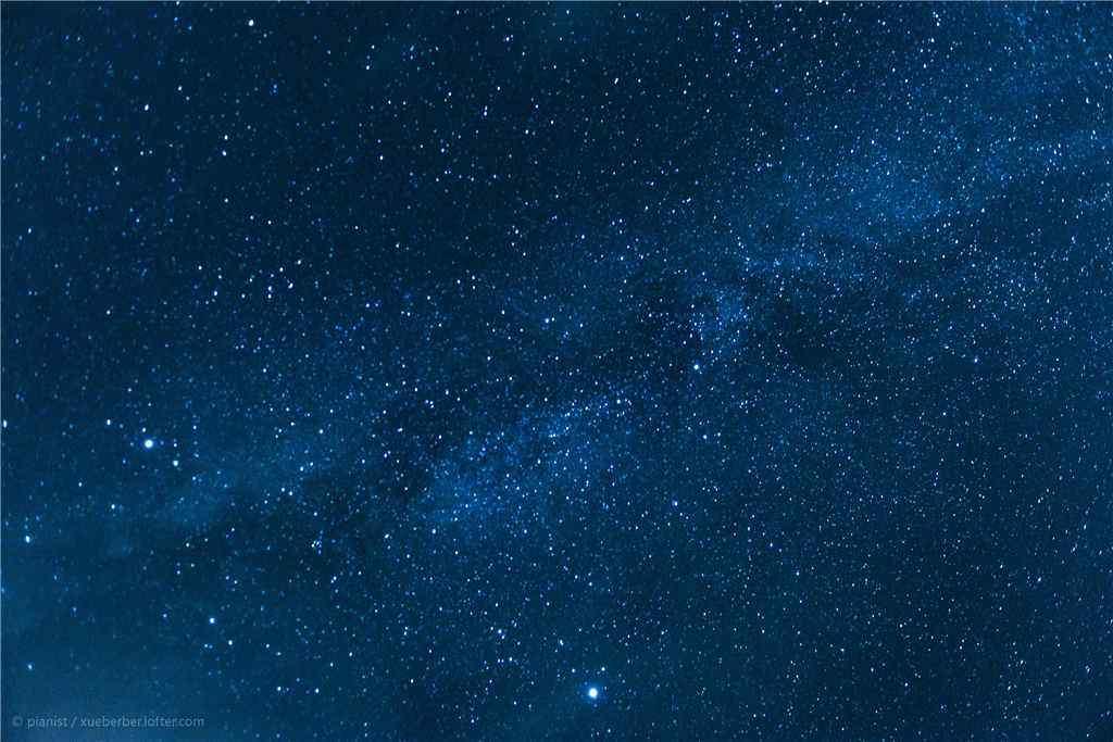 华山星空风景桌面壁纸