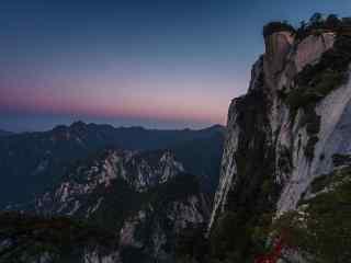 华山上的星空桌面壁纸