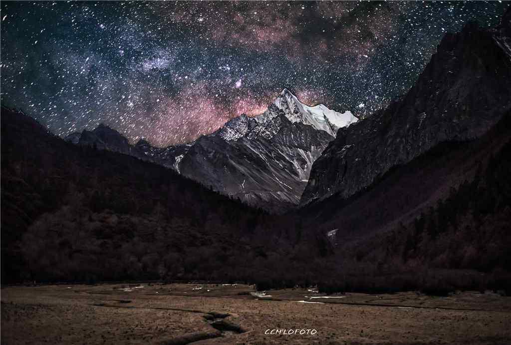 稻城亚丁星空风景高清壁纸