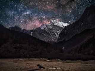 稻城亚丁星空风景