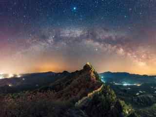 唯美星空夜景摄影高清写真桌面壁纸