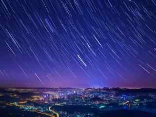 唯美灿烂的星空图片桌面壁纸