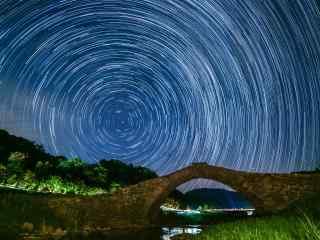 唯美星空摄影图片高清桌面壁纸