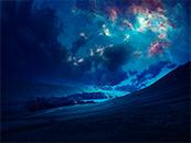 梦幻星空照耀大地高清桌面壁纸图片