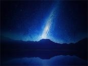 唯美蓝色星空高清1080p桌面壁纸图片