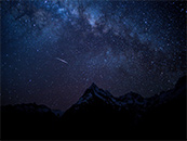 流星划过雪山星空高清唯美壁纸