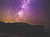 清新紫色星空高清壁纸