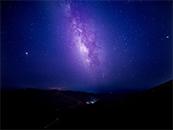 奇幻唯美紫色星空高清桌面壁纸图片