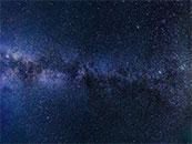 蓝色星空璀璨星星