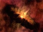 宇宙巨大橙色星云