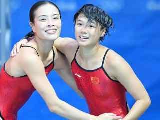 里约奥运跳水冠军吴敏霞施廷懋桌面壁纸