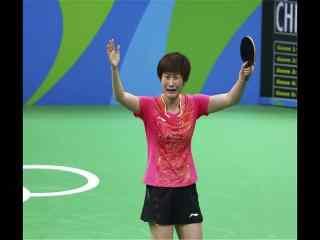 里约奥运乒乓球冠军丁宁比赛图片桌面壁纸