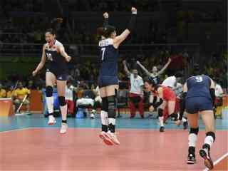 2016里约奥运中国女排赢球集体欢呼图片桌面壁纸