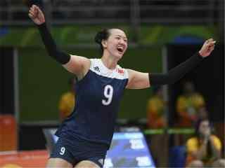 2016里约奥运中国女排欢呼赢球图片桌面壁纸
