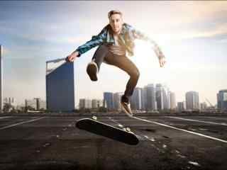 滑板运动高清图片桌面壁纸