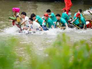 小清新端午节龙舟赛摄影图片