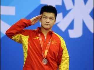 中国男子乒乓球队员樊振东得奖照片