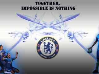 蓝军切尔西足球俱乐部队徽高清壁纸