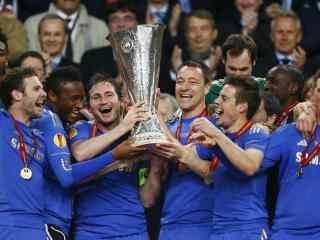 蓝军切尔西壁纸切尔西捧冠军杯高清桌面壁纸