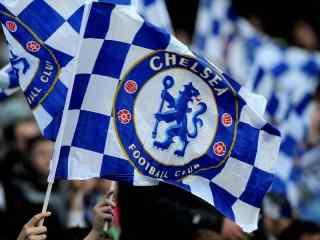 切尔西足球俱乐部高清壁纸旗帜图片