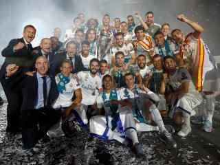 皇马2018欧冠夺冠庆典图片