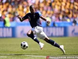 世界杯法国队前锋姆巴佩高清精彩图片