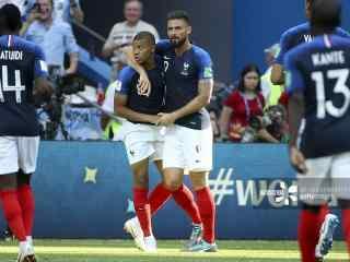 俄罗斯世界杯法国队高清图片