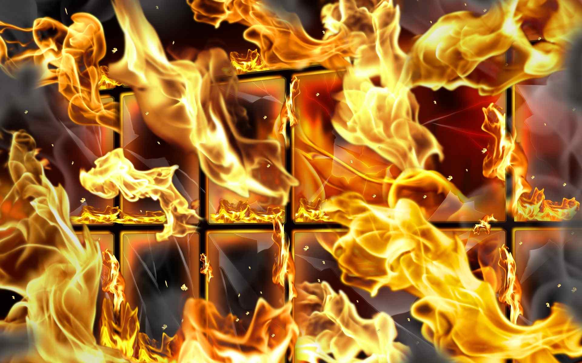 火焰格状壁纸