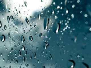 蓝色主题雨滴高清