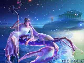 故事风酷炫星座壁纸高清下载:巨蟹座