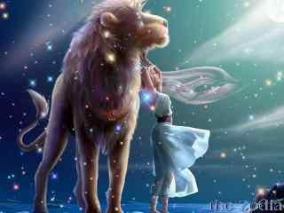 故事风酷炫星座壁纸高清下载:狮子座