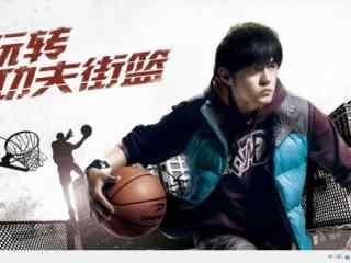 亚洲天王周杰伦手抱篮球win7桌面主题