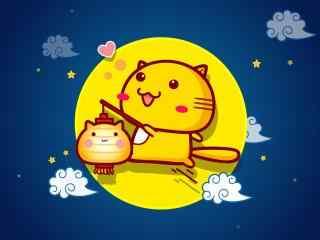 小黄猫中秋送祝福